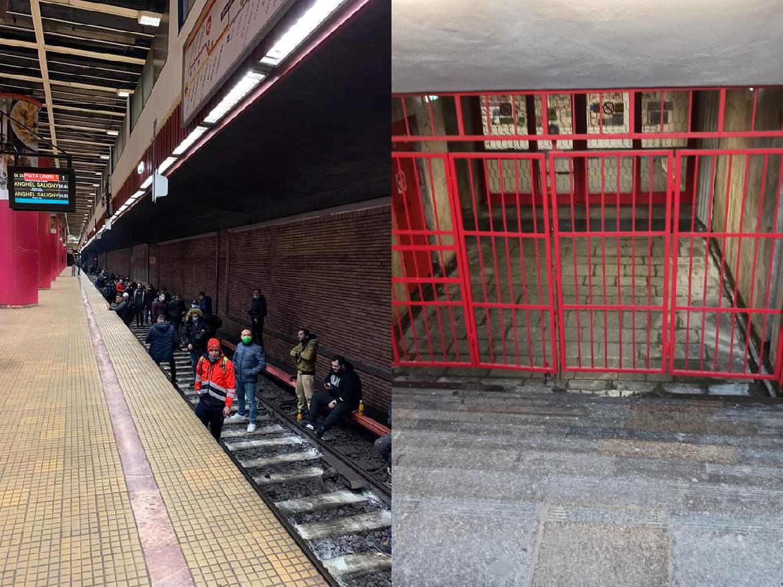 Protest la metrou pe sine