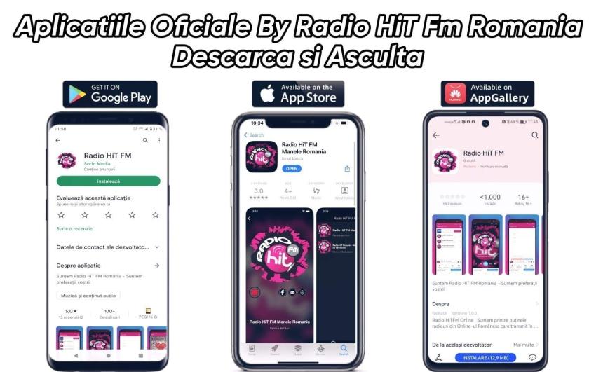Radio HiT FM Romania dispune de propria aplicatie on-line si poate fi descarcata din Google Play