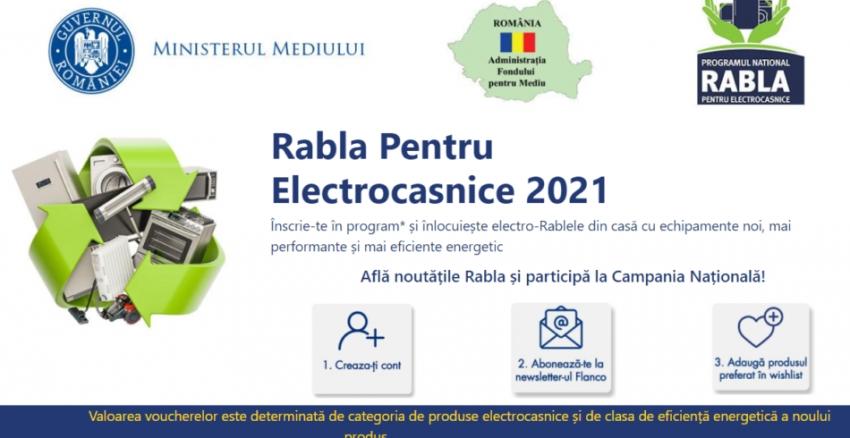 Lista magazinelor înscrise în programul Rabla pentru electrocasnice 2021 si valoarea voucherelor